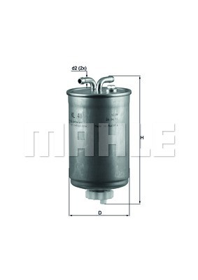 Фильтр топливный MAHLE  HONDAACCORD V /CIVIC/ SEAT/ VWCADDY I /JETTA II / POLO / TRANSPORTER III