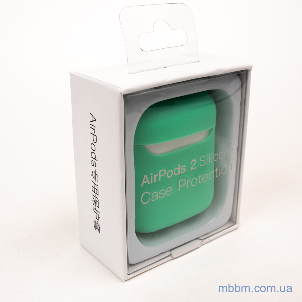Чехол silicone Airpods 2 Ultra Slim spearmint