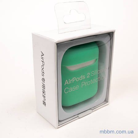 Чехол silicone Airpods 2 Ultra Slim spearmint, фото 2