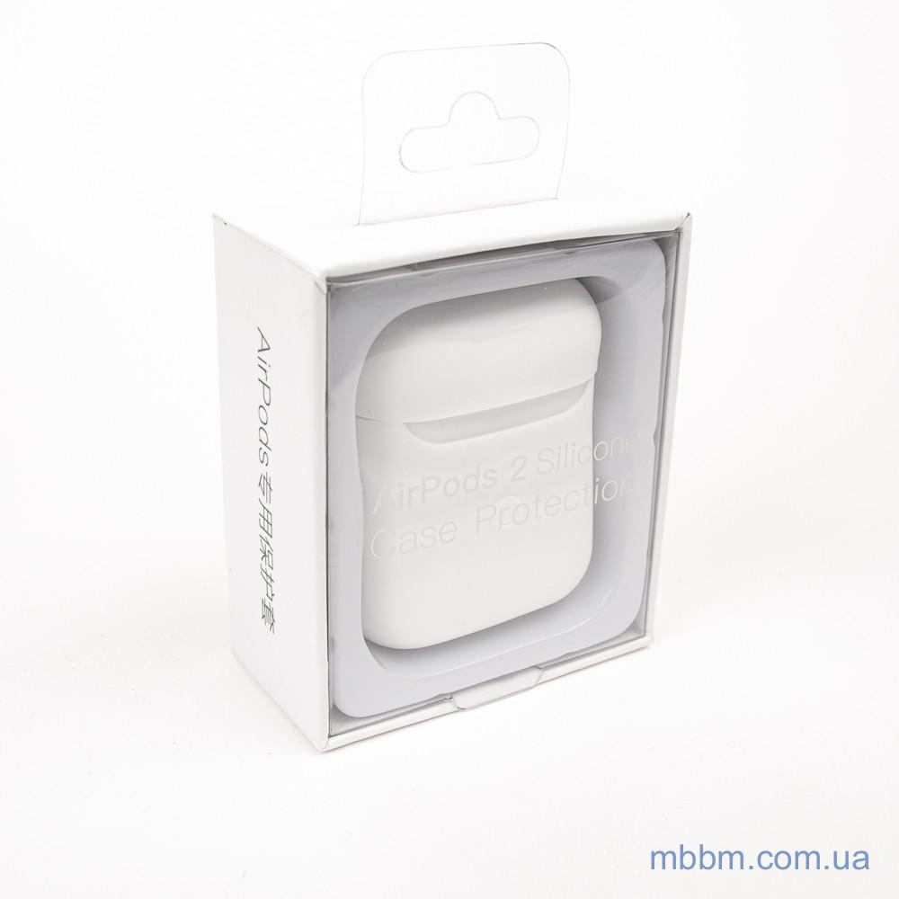 Чехол silicone Airpods 2 Ultra Slim white