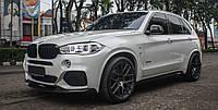 Накладка на передний бампер M Performance для BMW X5 F15, БМВ Х5 Ф15