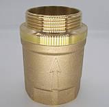 Обратный клапан 1 1/2 дюйма латунный с шариком для байпаса отопления., фото 5