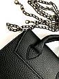 Сумка женская мини с ручками черная, фото 4