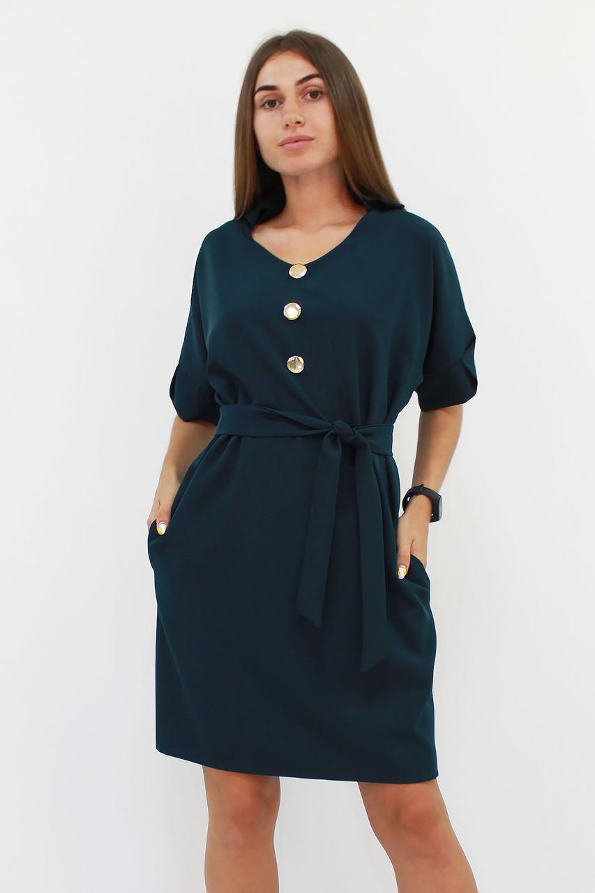 S, M, L / Жіноче вільне класичне плаття Monika, зелений
