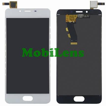Meizu U10, U680H Дисплей+тачскрин(модуль) белый, фото 2