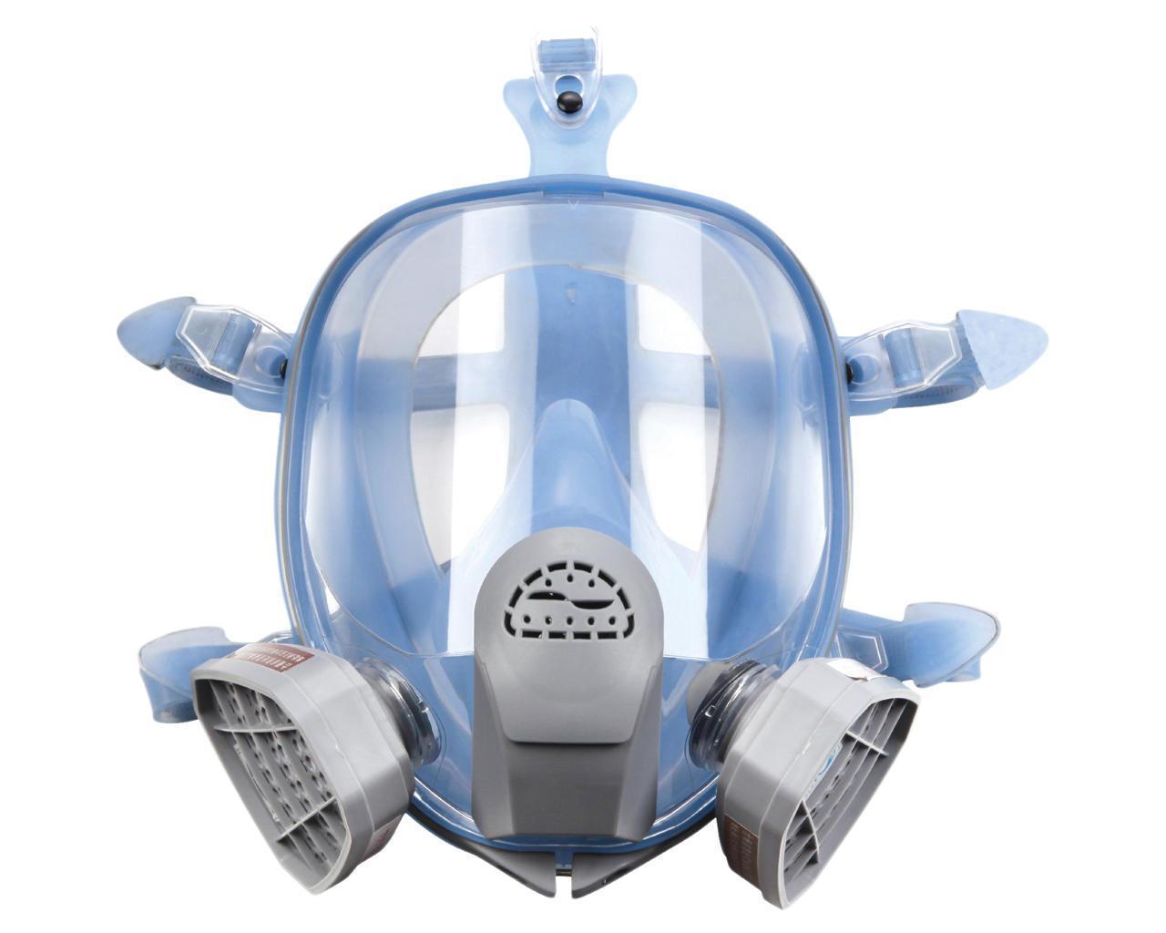 Полнолицевая маска Химик-3 с двумя фильтрами химическими под байонет в силиконовой оправе (3М 6800)