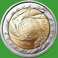 Италия 2 евро 2004 г. Всемирная продовольственная программа. UNC