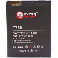 Батарея к мобильному телефону Extradigital Samsung SGH-T759 Exhibit 4G, 1500 mAh (BMS6334)