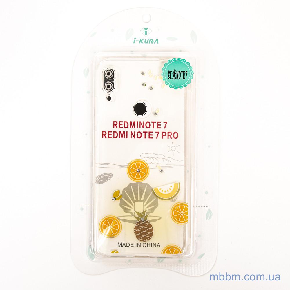 Накладка TPU Luxury Diamond Protective Xiaomi Redmi Note 7 желтый