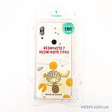 Накладка TPU Luxury Diamond Protective Xiaomi Redmi Note 7 желтый/тропические фрукты, фото 3