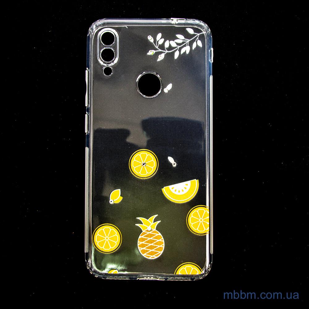 Накладка TPU Luxury Diamond Protective Xiaomi Redmi Note 7 желтый тропические фрукты