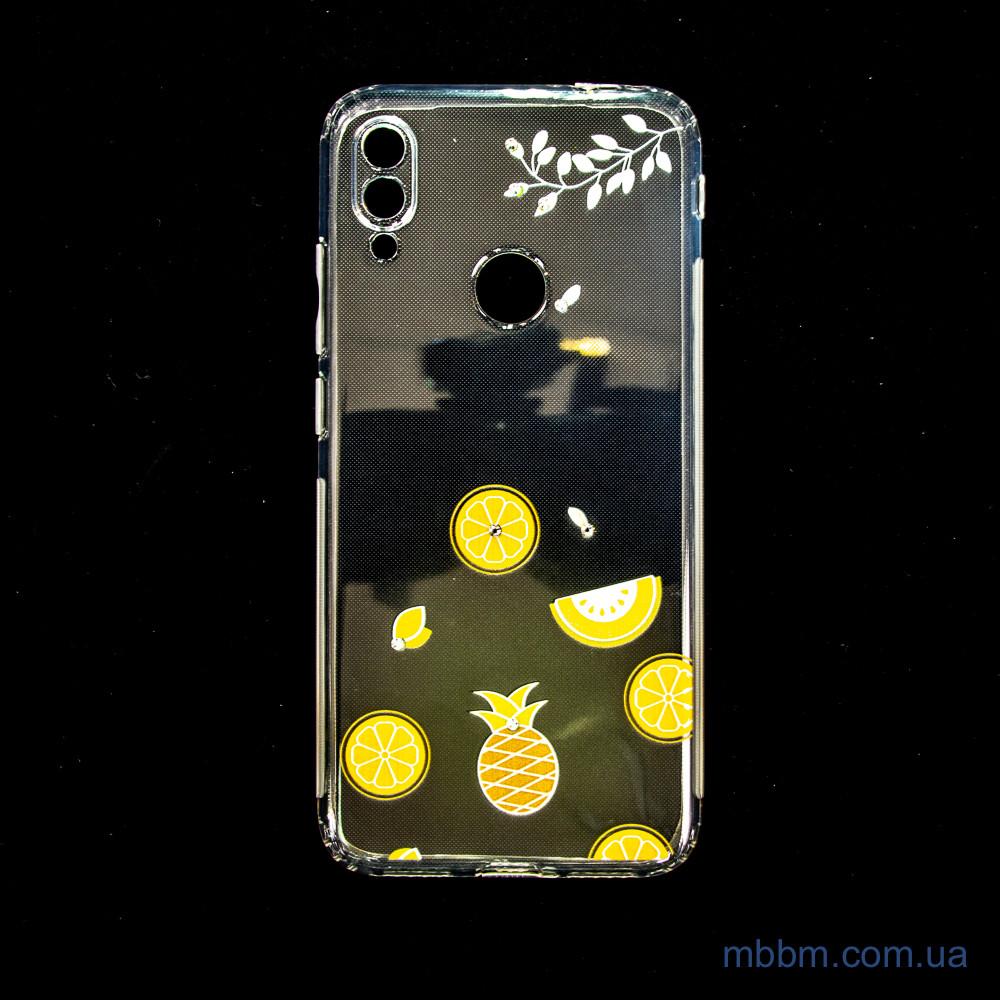 Накладка TPU Luxury Diamond Protective Xiaomi Redmi Note 7 желтый тропические фрукты Желтый