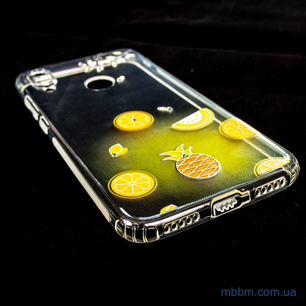 Накладка TPU Luxury Diamond Protective Xiaomi Redmi Note 7 желтый/тропические фрукты