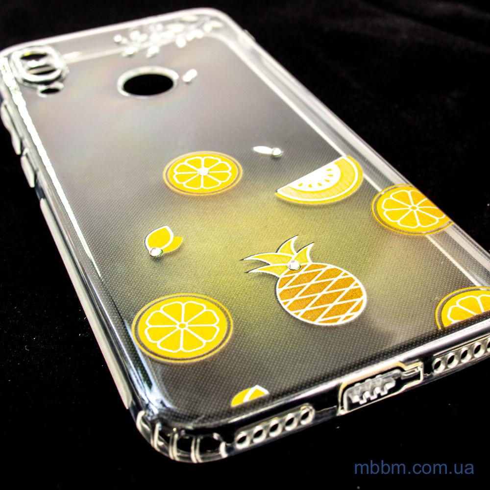 Чехлы для Xiaomi Redmi Note 7 TPU Luxury Diamond Protective желтый тропические фрукты