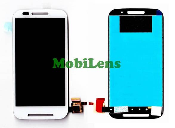Motorola XT1021, Moto E, XT1022, XT1025 Дисплей+тачскрин(модуль) белый, фото 2