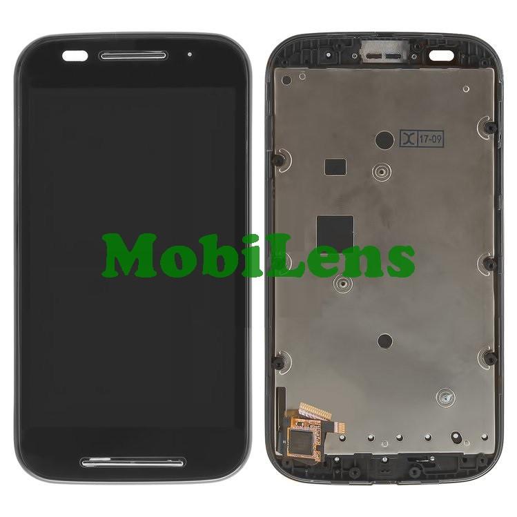 Motorola XT1021, Moto E, XT1022, XT1025 Дисплей+тачскрин(модуль) черный в рамке
