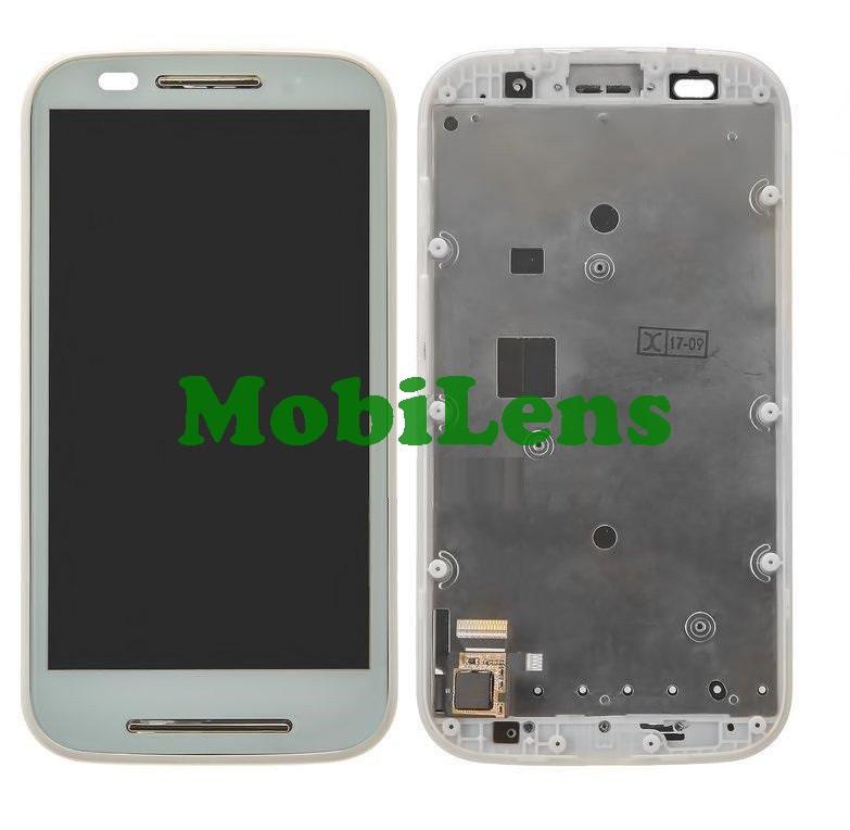 Motorola XT1021, Moto E, XT1022, XT1025 Дисплей+тачскрин(модуль) белый в рамке