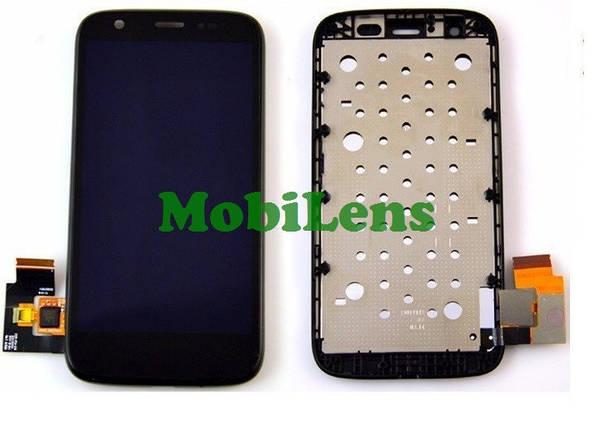 Motorola XT1033, XT1032, XT1036, XT1028 Moto G Дисплей+тачскрин(модуль) черный *в рамке, фото 2