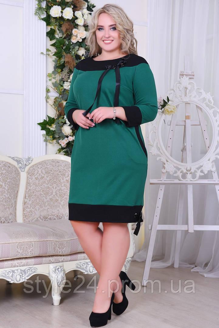 Батальне плаття  зі стрічкою, 4 кольори.Р-ри 50 -56