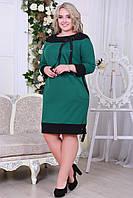 Батальне плаття  зі стрічкою, 4 кольори.Р-ри 50 -56, фото 1