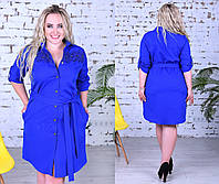 Батальне плаття  кружевом та жемчугом, 2 кольори.Р-ри 50 -56, фото 1