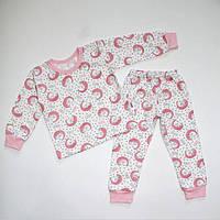 Піжама байкова для дівчинки з манжетами 92-116 розміри, фото 1