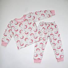 Піжама байкова для дівчинки з манжетами 92-116 розміри
