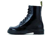 """Ботинки женские осенние кожаные Dr. Martens Black Mono """"Черные"""" размер 36-40"""