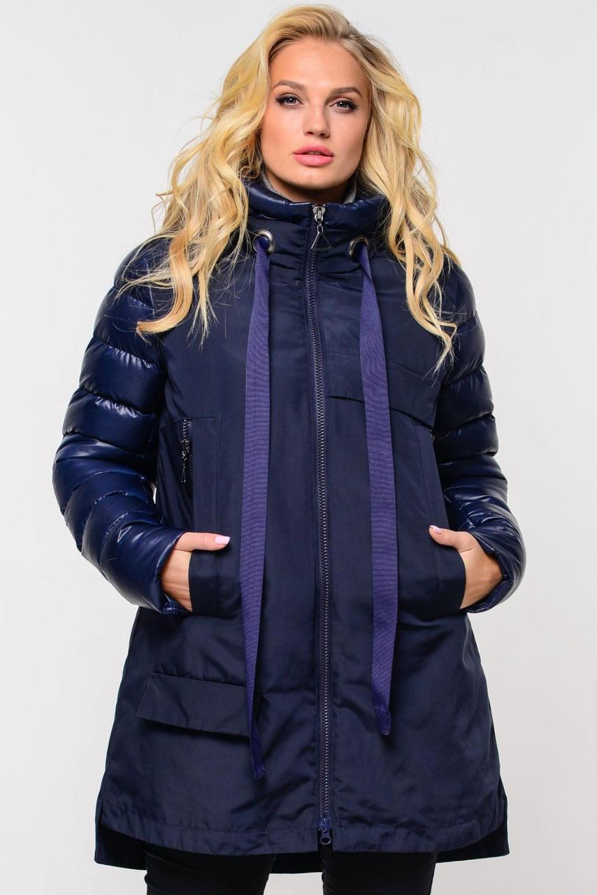 Зимняя куртка-парка оригинального кроя