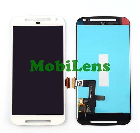 Motorola XT1063, XT1062, XT1064, XT1068, Moto G2 Дисплей+тачскрин(модуль) белый, фото 2