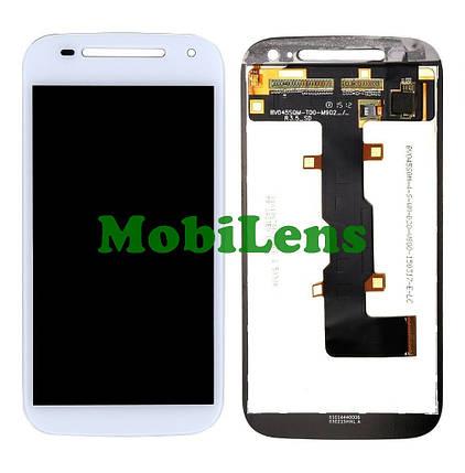 Motorola XT1505, XT1511, XT1524, XT1526, XT1527, Moto E2 Дисплей+тачскрин(модуль) белый, фото 2