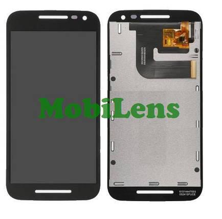 Motorola XT1540, XT1550, XT1541, XT1544, XT1548 Moto G3 (3nd Gen-2015) Дисплей+тачскрин черный, фото 2