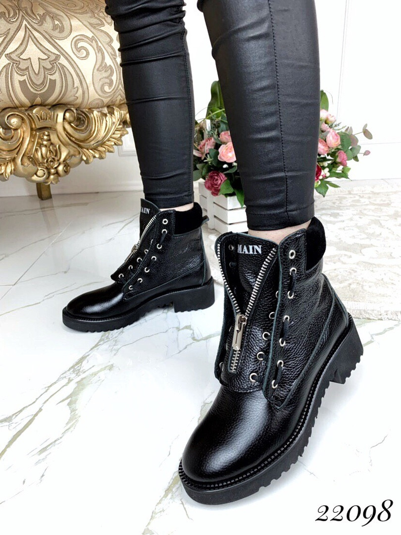 Демисезонные ботинки в стиле Б@лман натуральная кожа 38 размеры