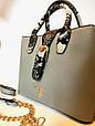 Сумка женская Prada  (серая), фото 6