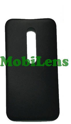 Motorola XT1540 Moto G3, XT1541, XT1544, XT1548, XT1550 Задняя крышка черная, фото 2
