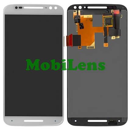 Motorola XT1572, XT1575, XT1570, Moto X Style, Moto X Pure Edition Дисплей+тачскрін(модуль) білий, фото 2