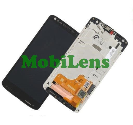 Motorola XT1585, XT1580, XT1581, Moto X Force, Droid Turbo 2 Дисплей+тачскрин(модуль) черный *в рамке