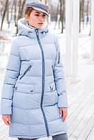 Длинная молодежная куртка на зиму