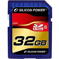 Карта памяти Silicon Power 32Gb SDHC class 10 (SP032GBSDH010V10)