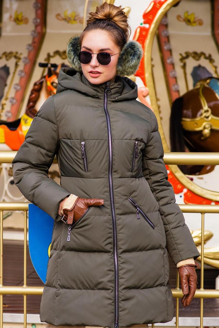 Приталенная утепленная куртка