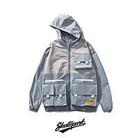 Куртка, ветровка Skatepark Grey/Blue унисекс
