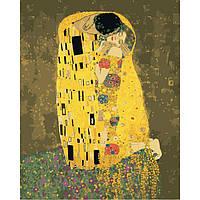 """Картина для росписи по номерам в коробке. Густав Климт """"Поцелуй"""", 40*50 см"""