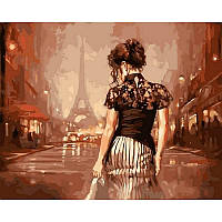 "Картина раскраска по номерам ""Винтажный Париж"" на холсте 40Х50см VP543"
