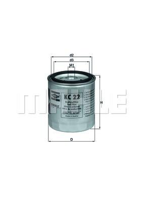 Фильтр топливный Mahle MERCEDES-BENZ W123/W460/207D-507D MOT.OM615/OM616/OM617