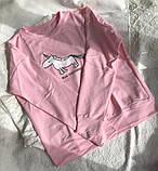 Нежно розовая кофта, свитшот с единорогом Турция, фото 6