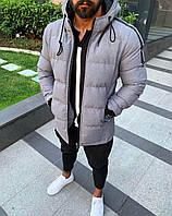 Новые Мужские Теплые Куртки Серая Куртка Мужская Турецкая Осенне-Зимняя Сіра Куртка Тепла Чоловіча