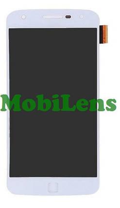 Motorola XT1635, Moto Z Play, XT1635-02 Дисплей+тачскрин(модуль) белый Original (AMOLED), фото 2