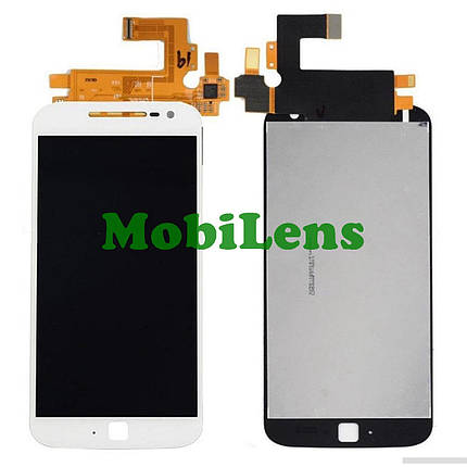 Motorola XT1641, T1642, T1644, Moto G4 Plus Дисплей+тачскрин(модуль) белый, фото 2