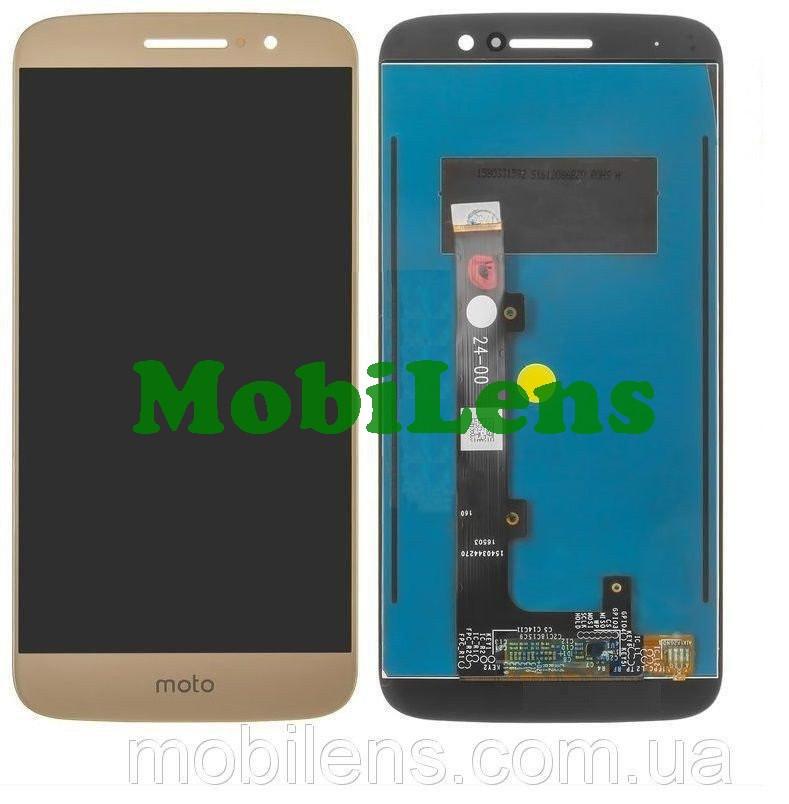 Motorola XT1663, XT1662 Moto M Дисплей+тачскрін(модуль) золотистий