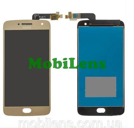 Motorola XT1685, XT1684, XT1687, Moto G5 Plus Дисплей+тачскрин(модуль) золотистый, фото 2